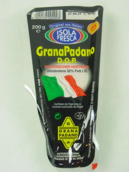 Original Italienischer Grana Padano   D.O.P. Hartkäse   200g