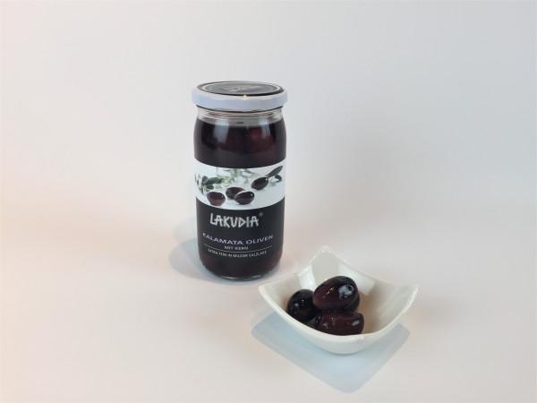 Kalamata Oliven mit Kern extra fein in milder Salzlake   Lakudia 355g