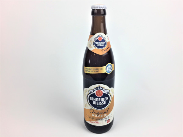 Schneider Weisse Original | Bayerns älteste Weissbierbrauerei | 0.5 Liter | Alk. 5.4% vol.