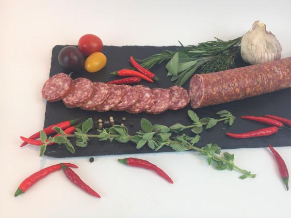 Fischer´s Chili Salami aus Bamberg   480g