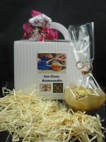 Dein Glücks Blaubeermuffin + Geschenkbox mit Schleife + 1 Glückskeks