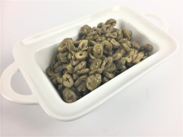 Grüne Oliven geschnitten| Lakudia 250g