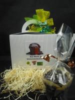 Dein Glücks Schokoladenkuchen + Geschenkbox mit Schleife + 1 Glückskeks