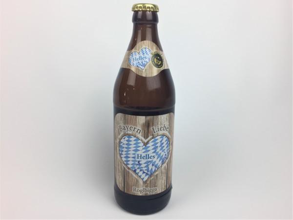Bayern Liebe Hell | das untergärige Bier aus Straubing vom Röhrlbräu | 0.5 Liter | Alk. 4.8% vol.