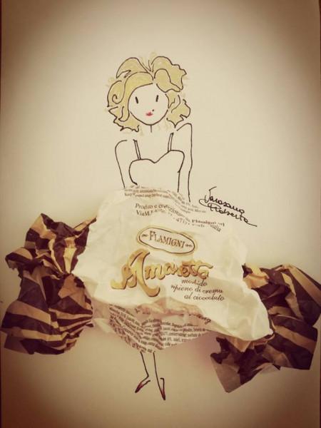 Amaretti | Biskuit mit Karamell und Schokoladencreme | Flamigni | 20g