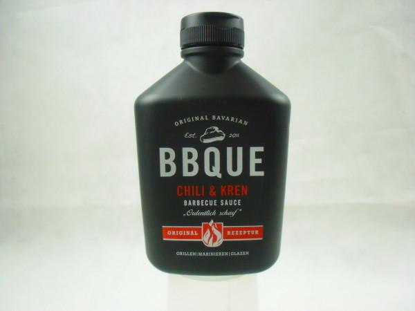 BBQ Chili & Kren Sauce & sauber scharf & HOT 389ml.