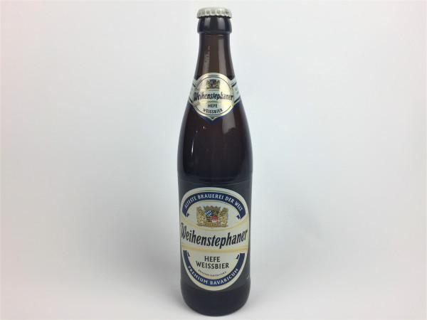 Weihenstephaner Hefe Weissbier | Älteste Brauerei der Welt | 0.5 Liter | Alk. 5.4% vol.