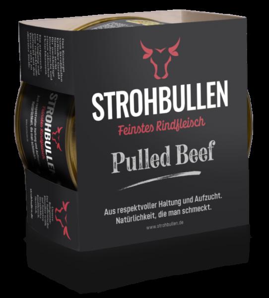 BBQ Pulled Beef vom Strohbullen aus feinstem Rindfleisch | Fix und Fertig | 400g