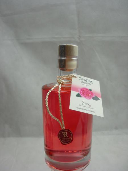 Grappa Likör Spirituose alla Rosa 29.5%   mit Rosenblütenaroma   0.35L