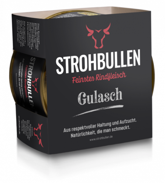 Gulasch vom Strohbullen aus feinstem Rindfleisch   Fix und Fertig   400g