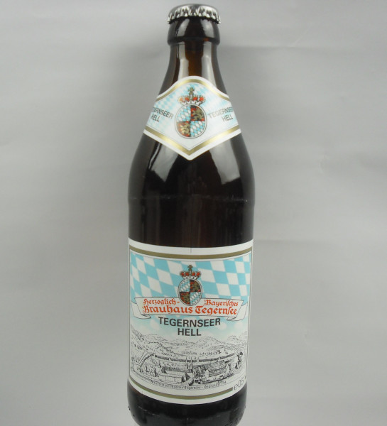 TEGERNSEER HELL   Brauhaus Tegernsee   0.5 Liter   Alk. 4.8% vol.