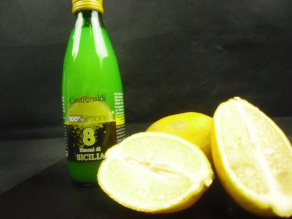 Natürlicher Zitronensaft 100%   Casa Rinaldi   8 Limoni di Sicilia   250ml.