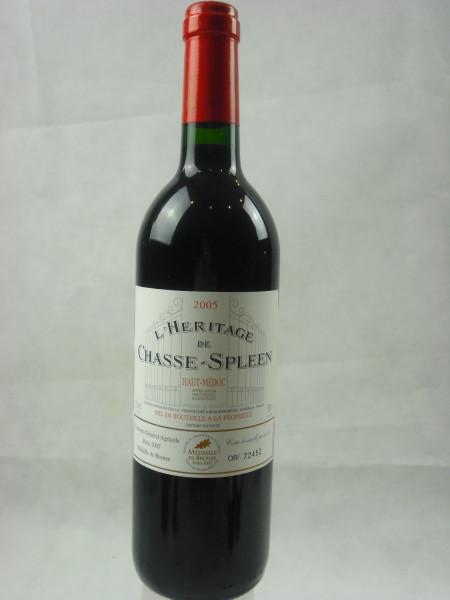 L´Heritag Chateau Chasse Spleen 2005 | Haut Medoc A.C | 0.75l
