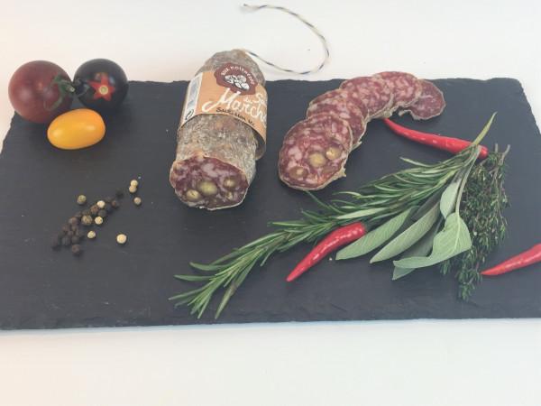 Salami mit Haselnüssen vom französischen Bergschwein 180g