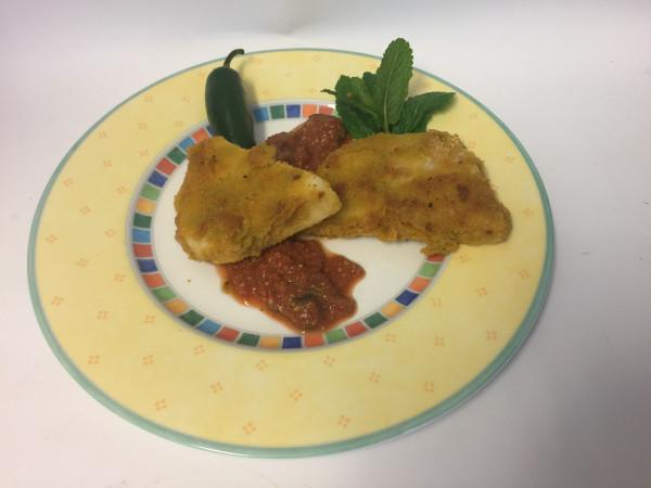 Zutatenblatt für   Schnitzel aus der Sellerieknolle mit Erbsenmehl und Pesto
