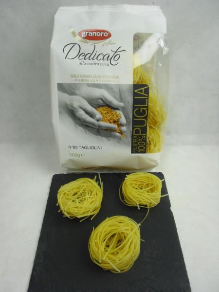 Tagliolini N°83 Dedicato | granoro Puglia | 500g