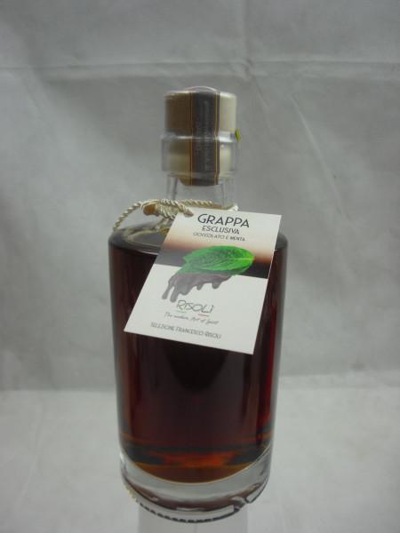 Grappa Likör Spirituose 30.5%   Schokolade & Minze   Francesco Risoli   0.35 L