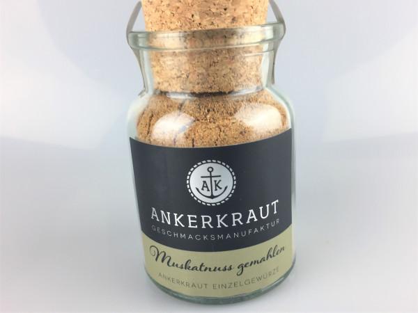 Muskatnuss gemahlen   im Gewürzglas   Ankerkraut   65g