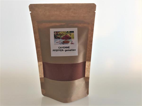 Cayenne Pfeffer gemahlen   Aroma Vorratspackung   100g