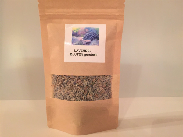 Französische Lavendel Blüten gerebelt   Aroma Vorratspackung   20g