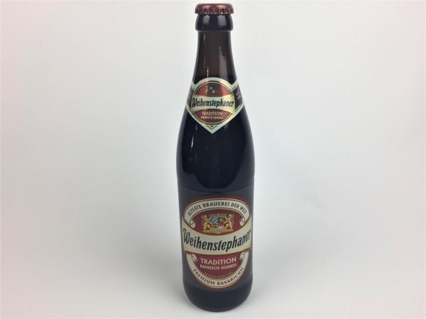 Weihenstephaner Tradition Bayrisch Dunkel | Älteste Brauerei der Welt | 0.5 Liter | Alk. 5.2% vol.