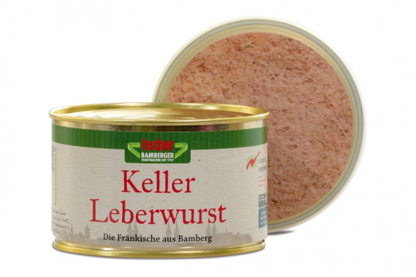 Fischer´s Kellerleberwurst aus Bamberg   400g Dose