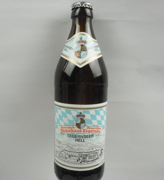 TEGERNSEER HELL   Brauhaus Tegernsee   18 x 0.5 Liter   Alk. 4.8% vol.