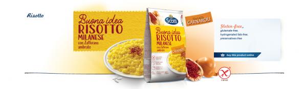 Risotto Milanese mit Safran   Riso Scotti   210g