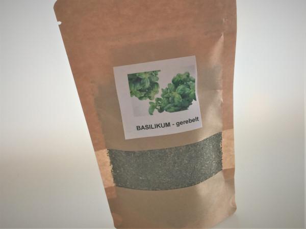 Basilikum gerebelt   Aroma Vorratspackung   40g